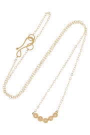 Melissa Joy Manning 14-karat gold diamond necklace