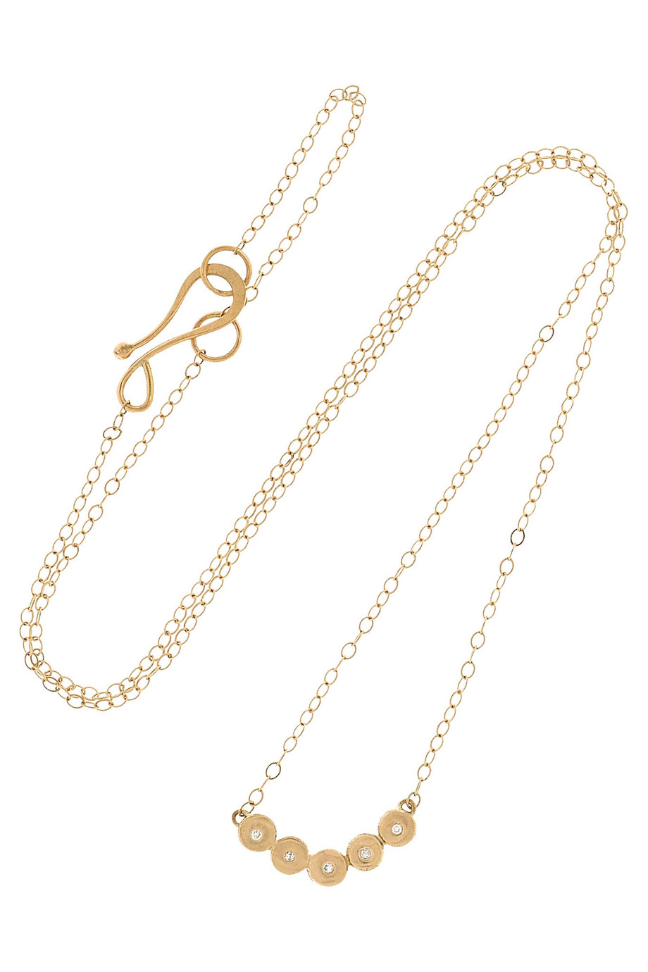 14-Karat Gold Diamond Necklace, Melissa Joy Manning, Women's