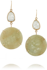 Melissa Joy Manning 18-karat gold sapphire earrings
