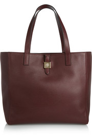 Tessie textured-leather tote