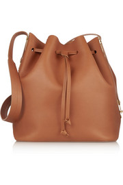 Matte-leather bucket bag