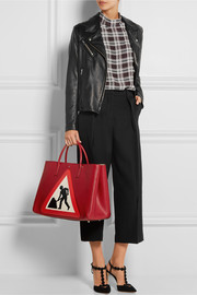 Anya Hindmarch Ebury Maxi Men At Work textured-leather tote