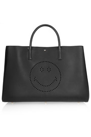 Ebury Maxi Smiley perforated leather tote