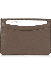 Anya Hindmarch Smiley textured-leather cardholder