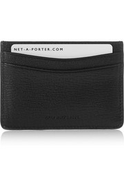 Anya Hindmarch Stop textured-leather cardholder