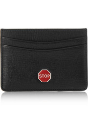 Stop textured-leather cardholder