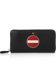Anya Hindmarch Textured-leather continental wallet