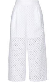 Ryker broderie anglaise cotton culottes