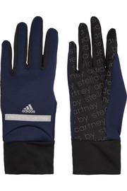 Run stretch-knit and mesh gloves