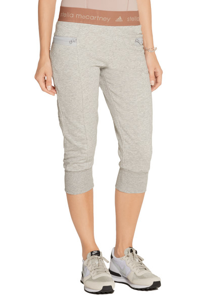 Essentials cropped cotton blend jersey track pants