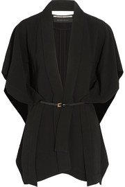 Snagsby belted stretch-crepe jacket
