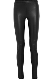 Mortimer leather skinny pants