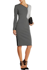 Nassau stretch-knit jacquard dress