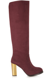 Stella McCartney Faux suede knee boots