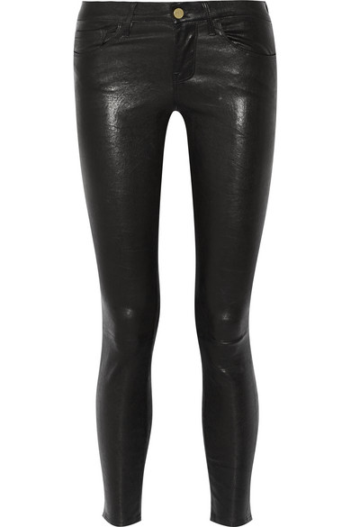 Le Skinny De Jeanne Leather Jeans - Black Size 27