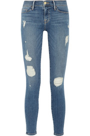 Le Skinny de Jeanne distressed low-rise jeans