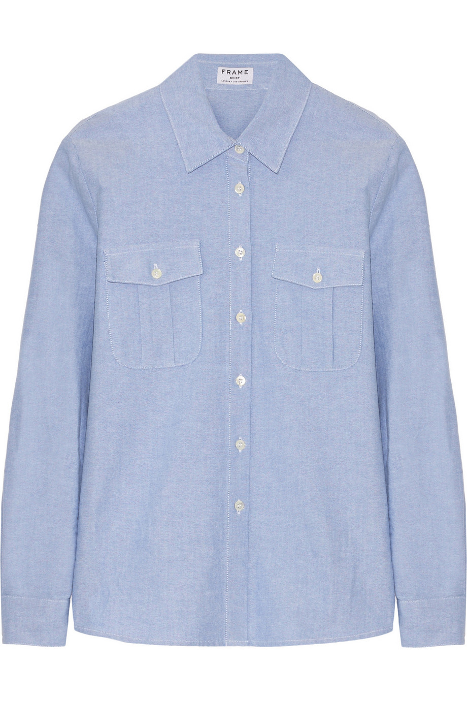 Frame Denim Le Boyfriend Cotton Shirt, Light Blue, Women's