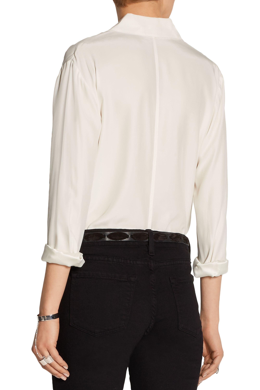 FRAME Le Classic washed silk-charmeuse shirt