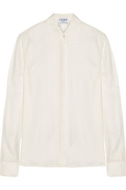 Le Classic washed silk-charmeuse shirt