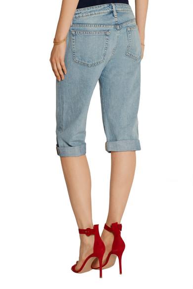 45182fa011 FRAME | Le Vintage Bermuda distressed denim shorts | NET-A-PORTER.COM