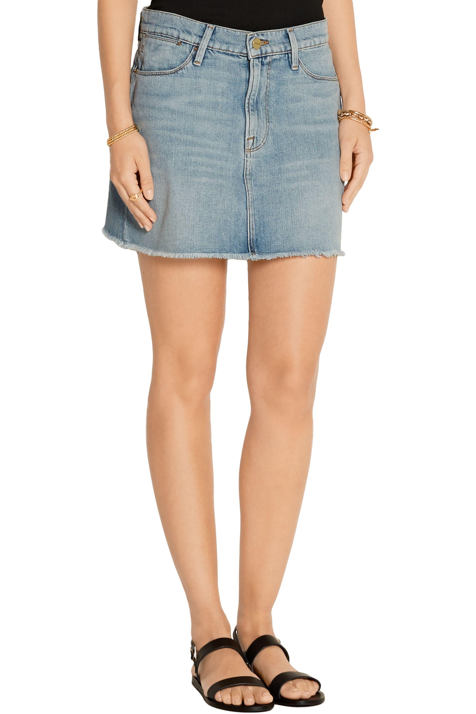 FRAME Le High denim mini skirt