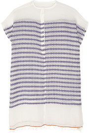 Elsabet striped cotton-blend gauze coverup