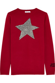 Bella Freud Star Studded intarsia merino wool sweater