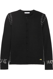 Bella Freud Love Hate studded wool cardigan