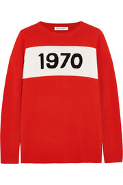 1970 intarsia wool sweater