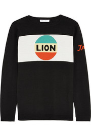 Lion Stripe intarsia merino wool sweater