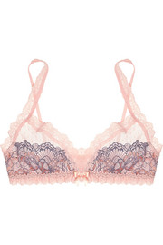 Emma stretch-tulle and lace soft-cup triangle bra