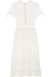 Macramé lace midi dress