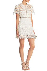 Guipure lace mini skirt