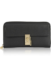 Chloé Drew textured-leather continental wallet