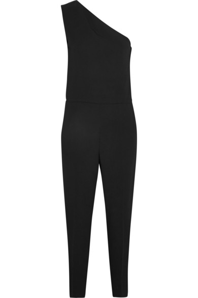 d76a81a1ad6d Stella Mccartney Faith One-Shoulder Stretch-Cady Jumpsuit