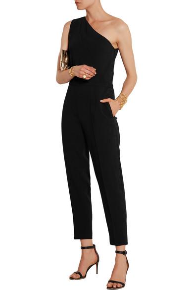 7c1b08b8603e Stella McCartney. Faith one-shoulder stretch-cady jumpsuit