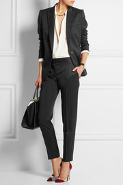 Vivian wool-twill slim-leg pants