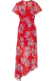Nicole floral-print silk-chiffon maxi dress