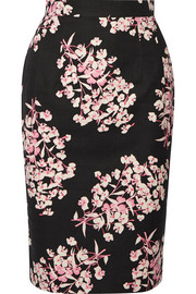 Axel floral-print stretch-cotton pencil skirt