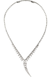 Magnipheasant 18-karat white gold diamond necklace