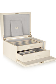 Smythson Grosvenor leather jewelry box