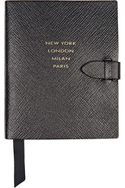 Panama Runway Notes textured-leather notebook