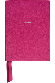 Soho 2016 textured-leather diary