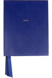 Portobello textured-leather diary