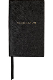 Panama Fashionably Late textured-leather notebook