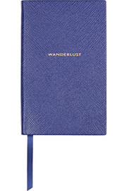 Panama Wanderlust textured-leather notebook