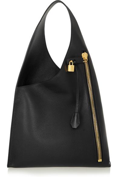tom ford alix hobo textured leather shoulder bag net a. Black Bedroom Furniture Sets. Home Design Ideas