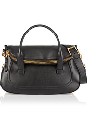 Jennifer medium textured-leather tote