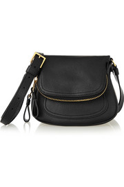 Jennifer mini textured-leather shoulder bag