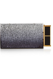 Lipstick glitter-finished Plexiglas® clutch
